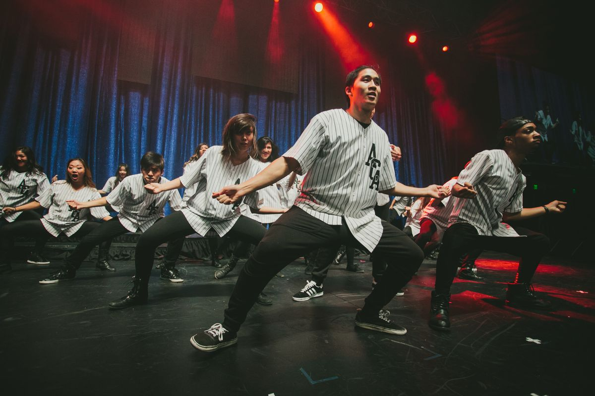 The dance group ACA Hip Hop performing at Spring Sing 2014
