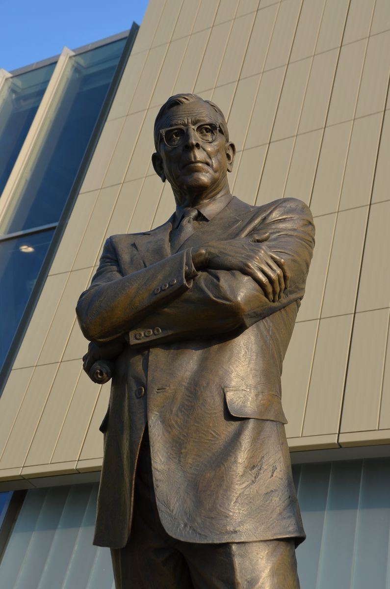UCLA statue of Coach John Wooden