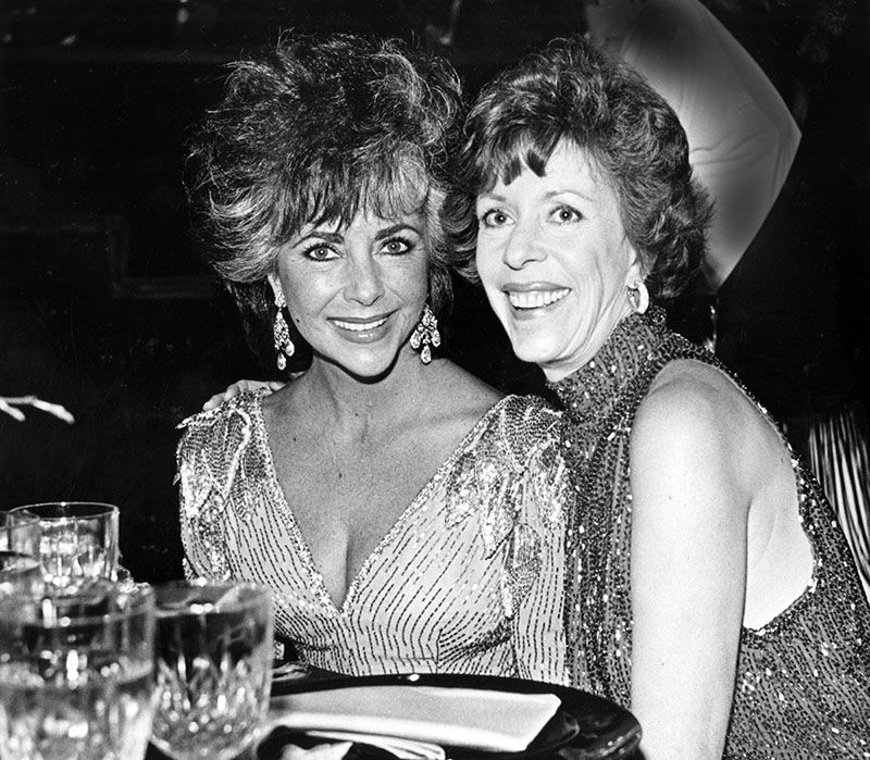 On April 29, 1986 at a 53rd birthday celebration for Carol Burnett, the comedic Bruin alumna was joined by guest Elizabeth Taylor at Pauley Pavilion.