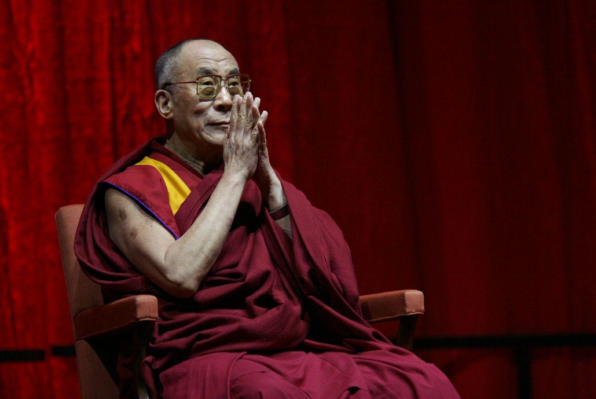 The 14th Dalai Lama, Tenzin Gyatso in Antwerpen, Belgium 2006