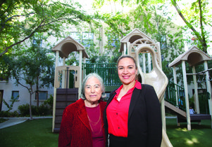 Esther Schiller and Marlene Gomez