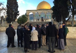 The students visit the Temple Mount/Haram al-Sharif in Jerusalem