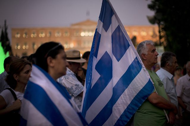Greece Bailout flag