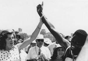 Eunice Kennedy Shriver at 1972 Special Olympics games at UCLA