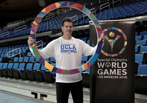 Coach Steve Alford poses for 2015 Special Olympics World Games