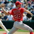 Los Angeles Angels pitcher Andrew Heaney