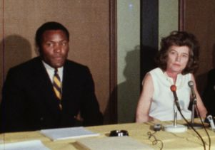 Rafer Johnson and Eunice Kennedy Shriver