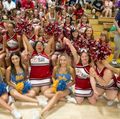 The UCLA Spirit Squad and the SOMO JOY cheerleaders from Maryland