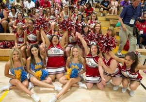 UCLA Spirit Squad and cheerleaders from Maryland