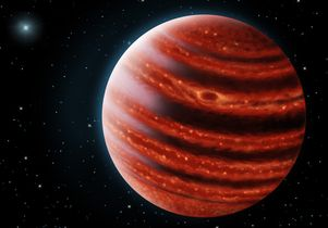 Rendering of Jupiter-like planet