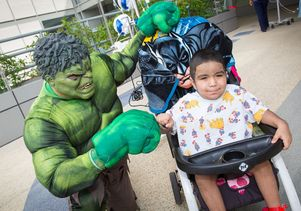 Herold Trejo, 7, and the Hulk