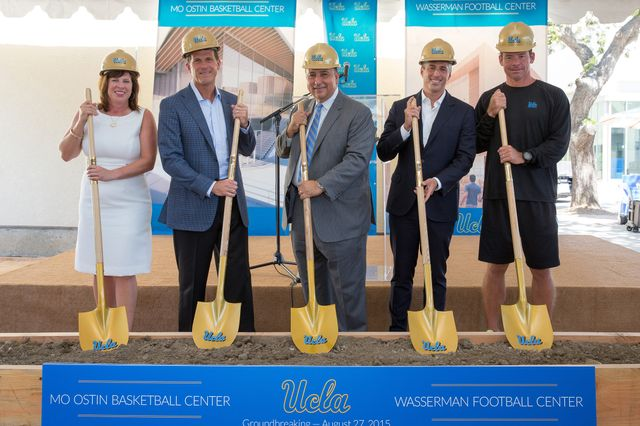 Wasserman and Ostin centers groundbreaking