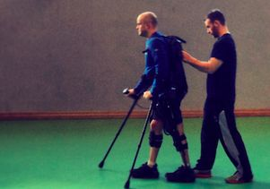 Mark Pollock taking steps