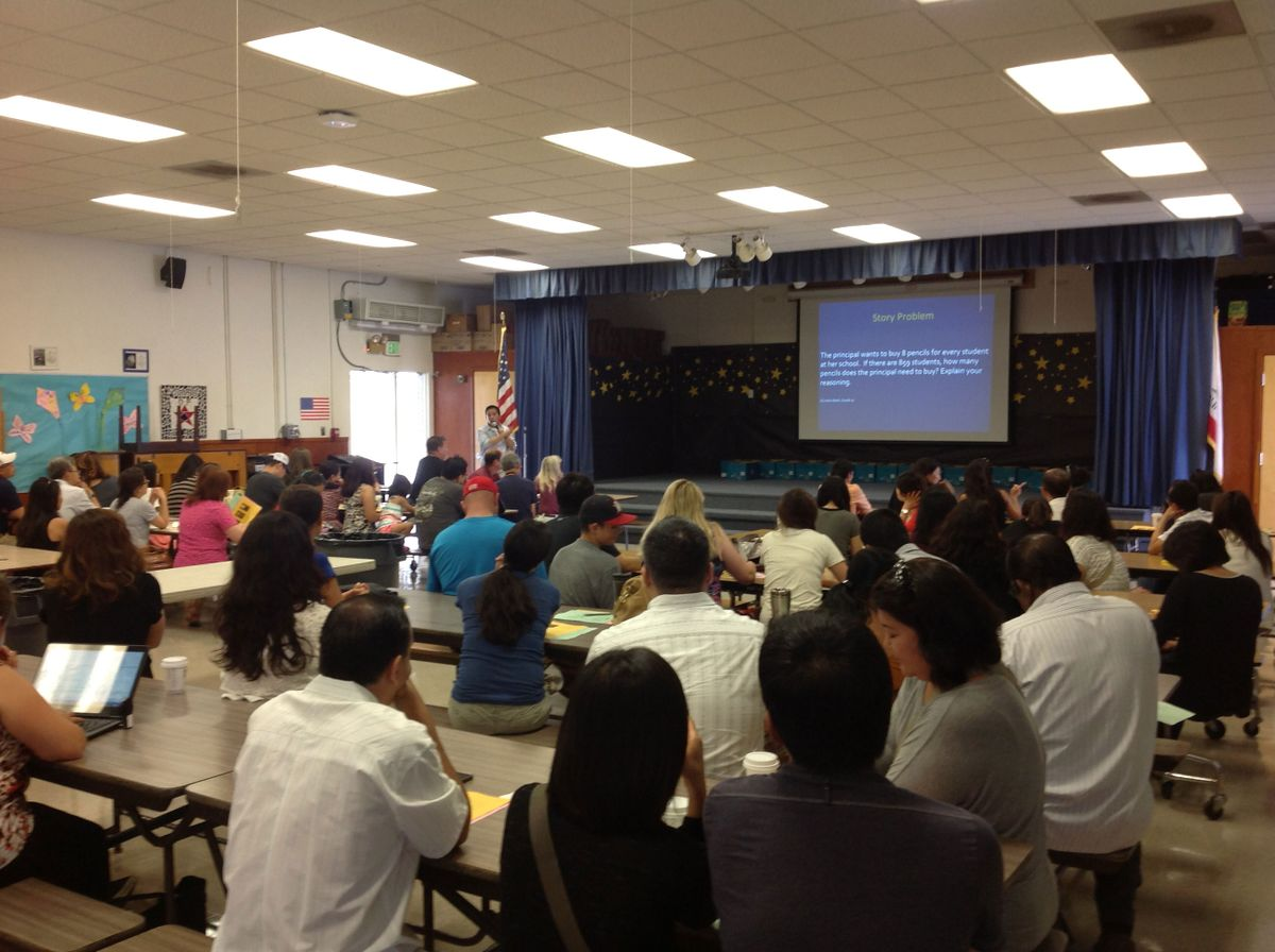 Parents at John Adams Elementary School