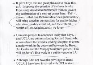 Broad Art Center remarks