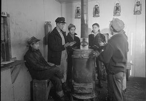Internees at Tule Lake camp, January 1943