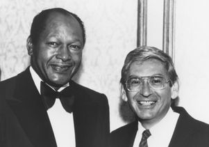 Tom Bradley and Eli Broad