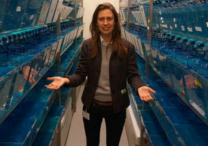 Olivia Osborne in fish facility