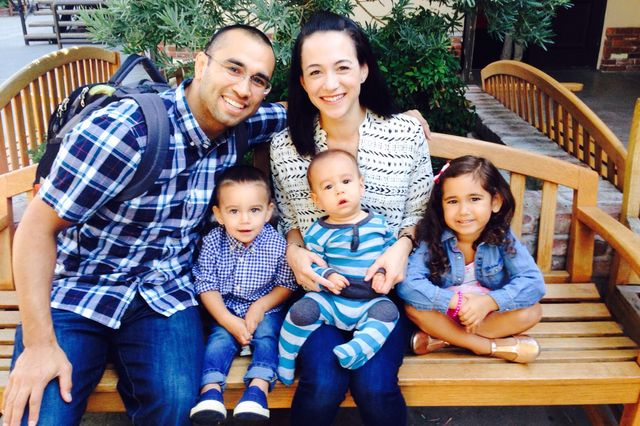 Tillman scholar Daniel Ybarra and his family