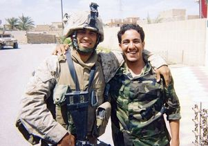 Daniel Ybarra (left) in Ramadi, Iraq