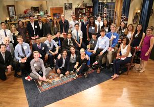 UCLA students with cast of