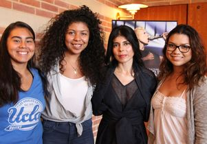 Ely Guerra (third from the left) and students