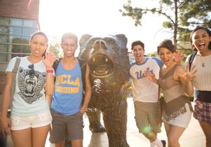 UCLA students on Bruin Walk