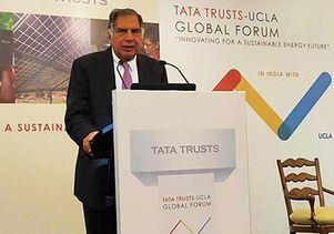 Ratan Tata at the UCLA Tata forum in India