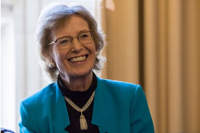 Mary Robinson, former president of Ireland and advocate for climate justice