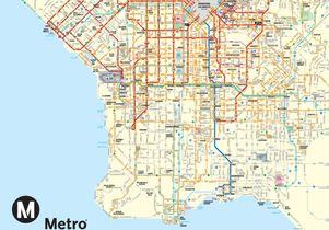 LA Metro map