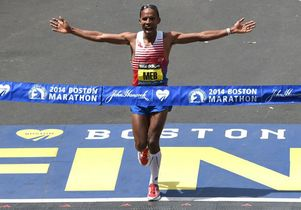 Meb Keflezighi in Boston Marathon