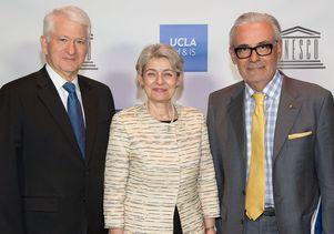 Gene Block, Irina Bokova, Marcelo Suárez-Orozco
