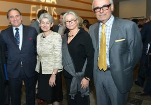 Alberto Torres, Irina Bokova, Courtney Sale Ross and Marcelo Suárez-Orozco