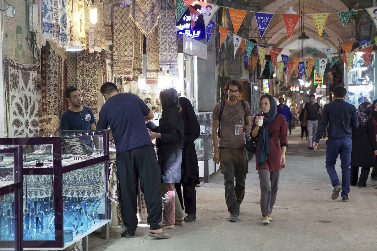 Scene from a bazaar in Isfahan, Iran