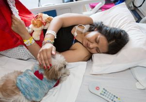 Jazmin, a patient at Mattel Children's Hospital