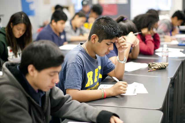 UCLA Community school students in class
