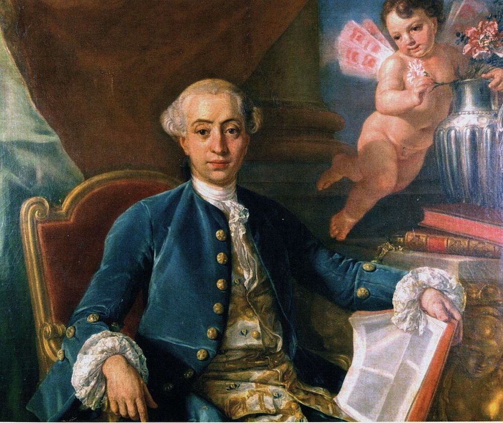 Anton Raphael Mengs (1728–1779), Portrait of Giacomo Casanova, 1760.