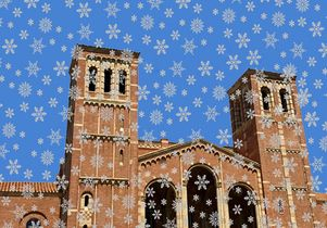 Royce Hall snowflakes