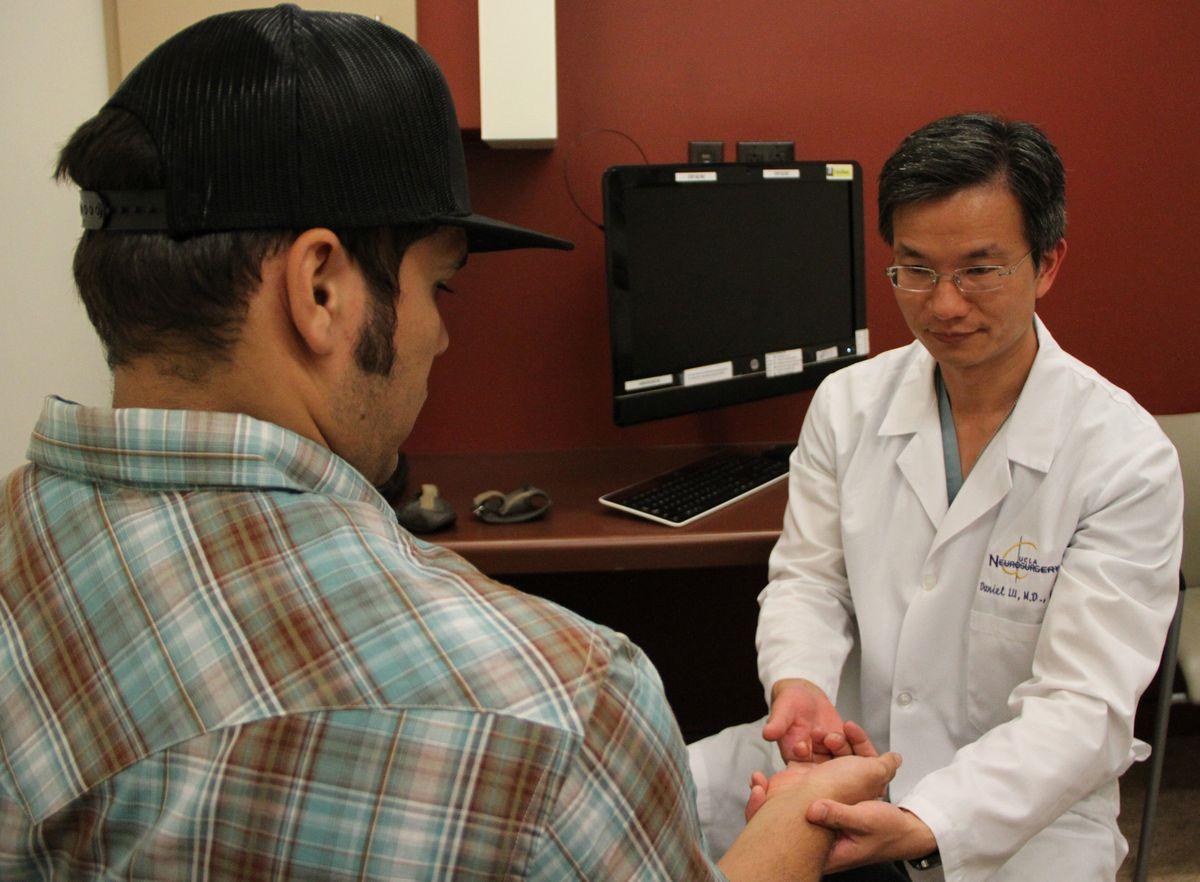Brian Gomez with Dr. Daniel Lu