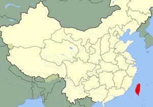 China Taiwan map
