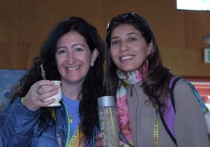 Two educators from Argentina