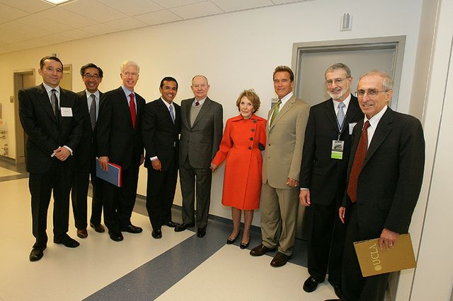 Nancy Reagan at hospital dedication