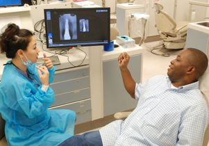 Dental student Tigon Abalos and UCLA student Rodrick Fox