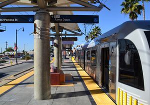 Gold Line train and station