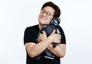 Dennis Hong with robot
