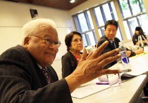 James Lawson Jr., Dolores Huerta and Kent Wong