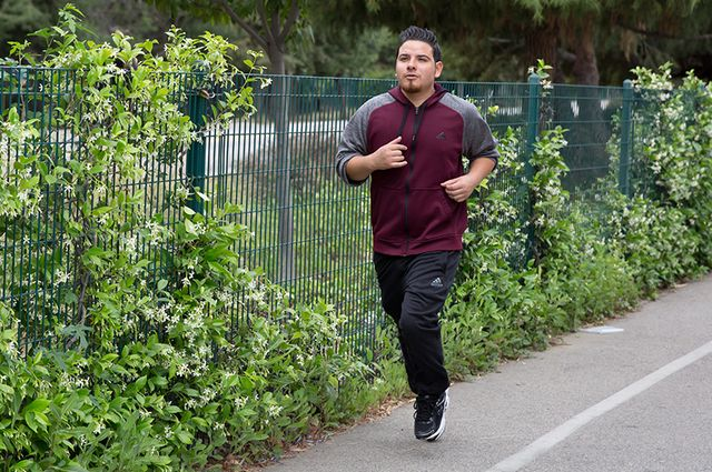 Marco Tapia running