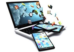 Illustration of mobile application development