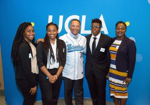 Dave Roberts with UCLA Jackie Robinson Scholars