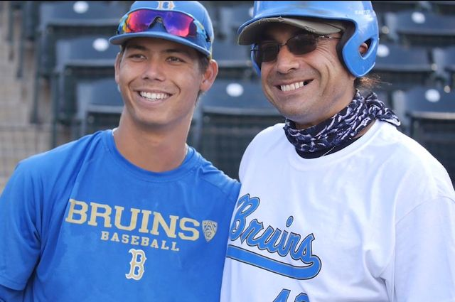 Brett Urabe and a veteran